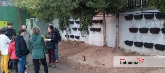 Jardin vertical en Colegios de Madrid, Escuelas Aguirre